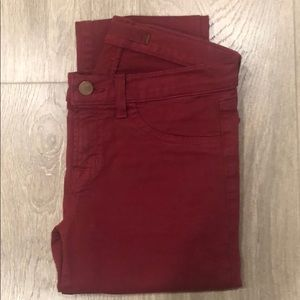 J Brand Skinny Leg in Black Cherry Size 25